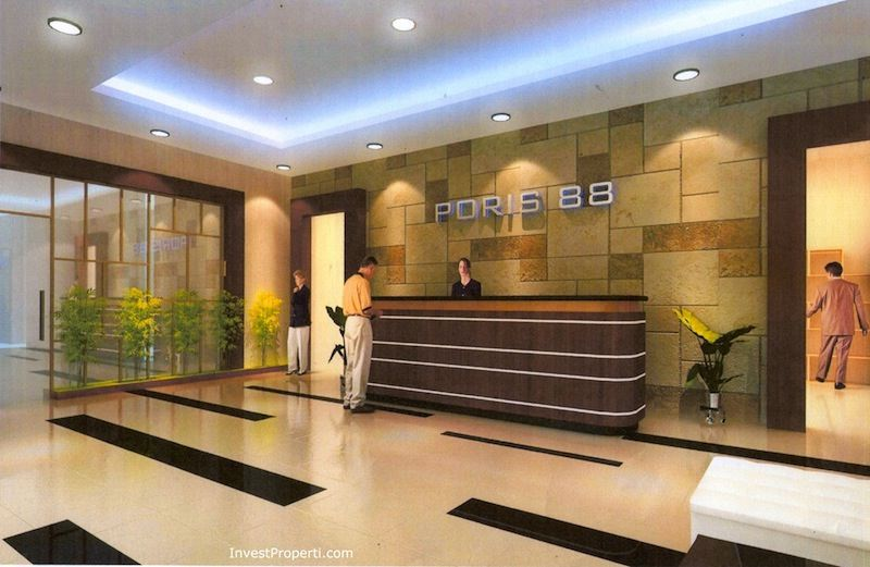 loby apartemen Poris 88