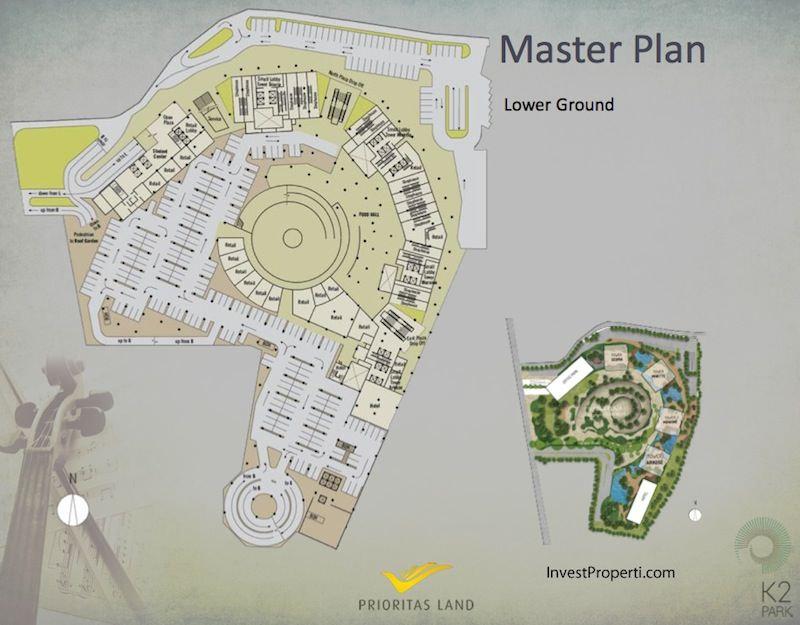 Master Plan Lower Ground K2 Park Gading Serpong