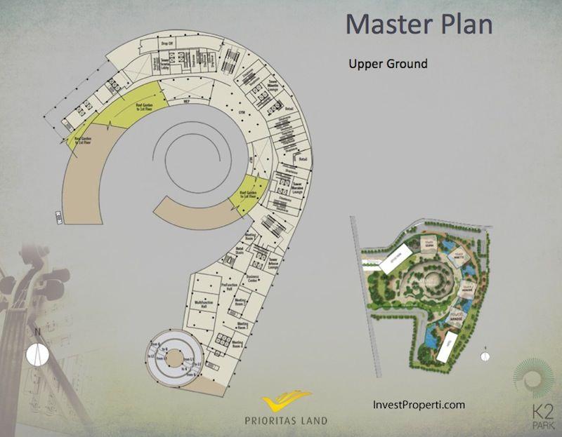 Master Plan Upper Ground K2 Park Gading Serpong