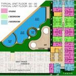 Floor Plan 03-20 , 23-30 Apartemen ParkLand Avenue BSD