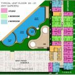 Floor Plan 20-21 Apartemen ParkLand Avenue BSD