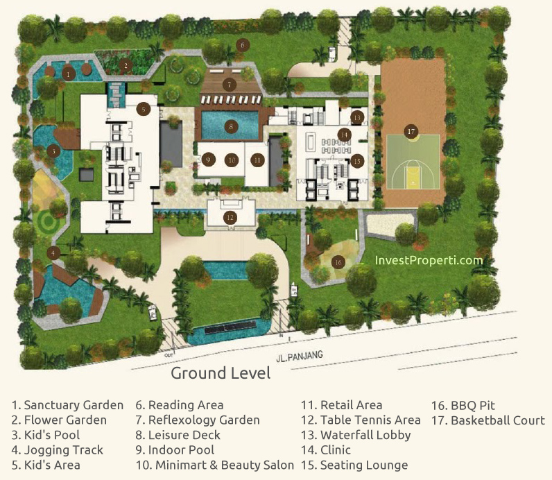 Wang Residence Site Plan Ground Level