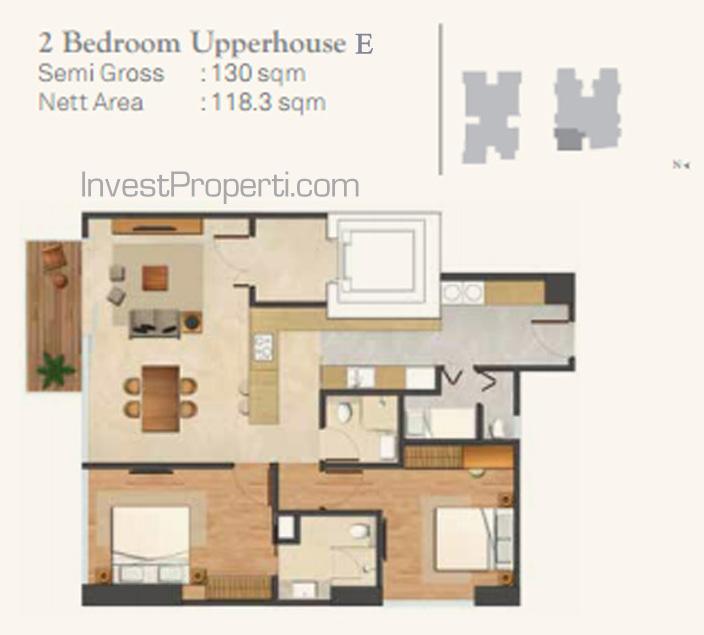 Wang Residence Unit 2BR Upperhouse E