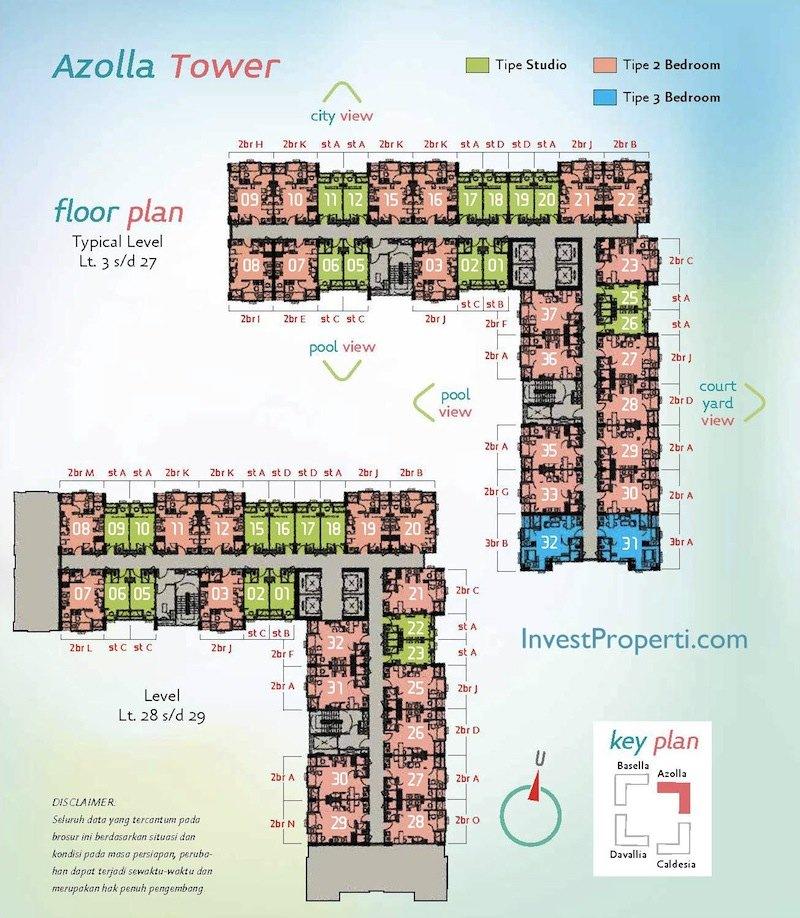 Azolla Tower Apartment The Spring Lake Bekasi