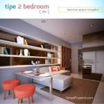 Contoh Design Tipe 2 BR Apartemen Spring Lake Bekasi