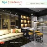 Contoh Design Tipe 3BR Apartemen Spring Lake Bekasi
