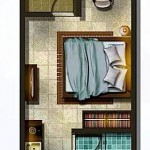 Denah Tipe Unit Studio Apartemen Spring Lake Bekasi