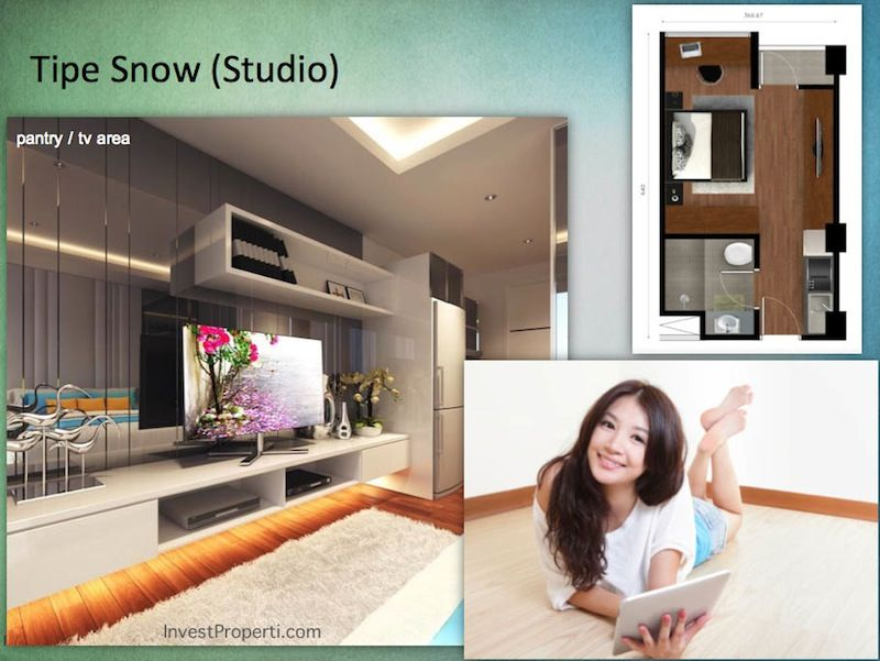 Tipe Snow Studio Indigo Bekasi Apartment - Pantry