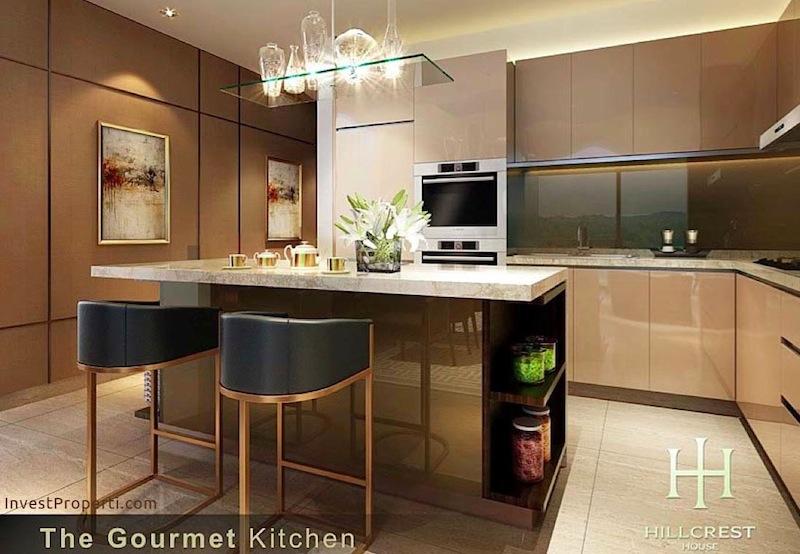 Interior Design Kitchen Hillcrest House Lippo Apartment