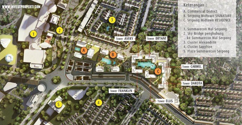 Blok Plan Serpong Midtown Residence