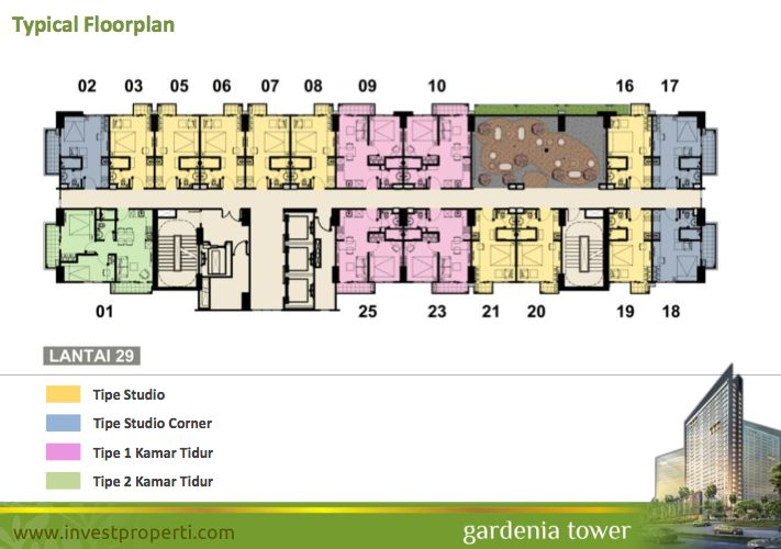 Floor Plan Tower Gardenia Lt 29