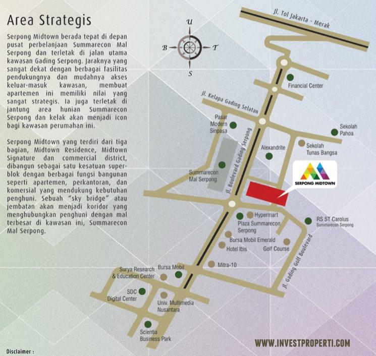Map Serpong Midtown Residence