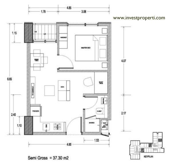 Tipe 1+1 Bedroom
