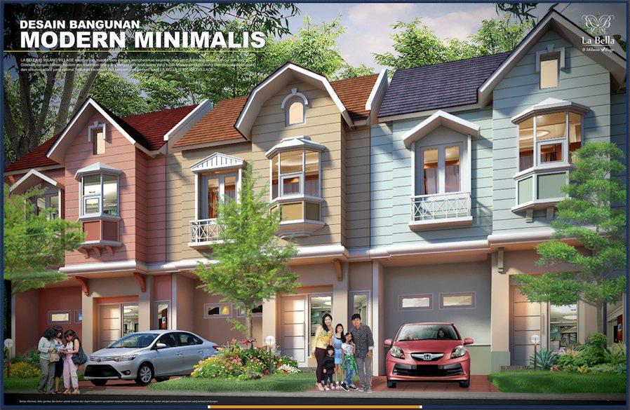 Design Rumah La Bella Milano Village