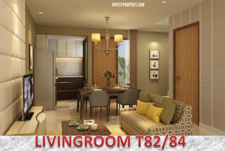 Design Living Room Rumah Cluster Vivacia