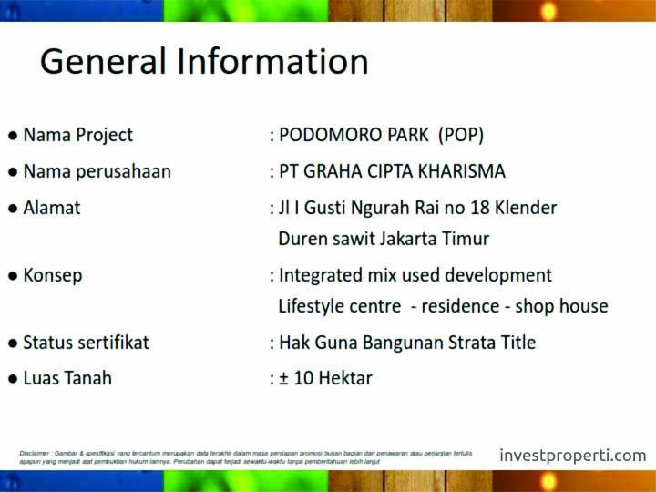 Apartemen Podomoro Park Jakarta