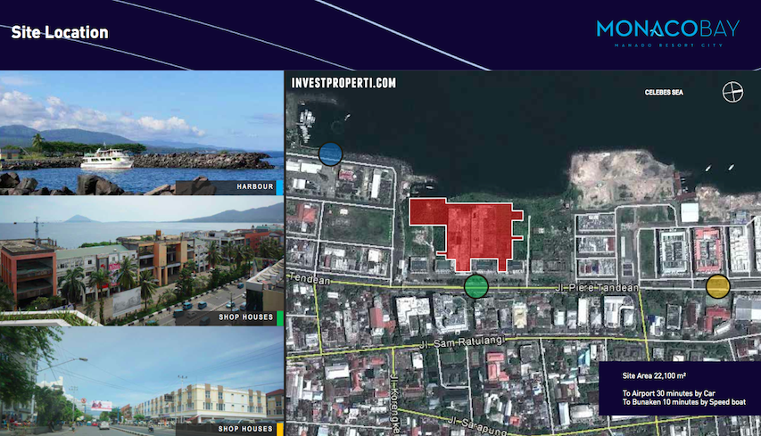 Monaco Bay Manado Resort City Location