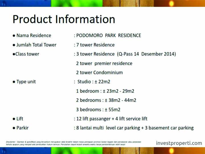 Podomoro Park Residence Jakarta