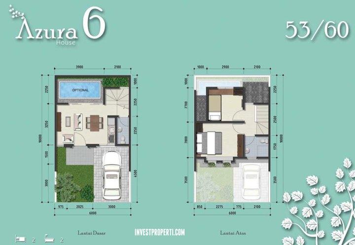 Floor Plan Rumah Azura 6 BSD City