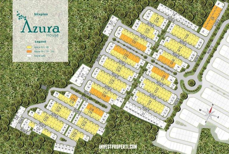 Site Plan Rumah Cluster Azura Vanya Park BSD City