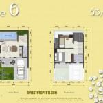 Denah Tipe L6 Azura House Cluster 2