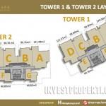 Floor Plan Tower 1 dan 2