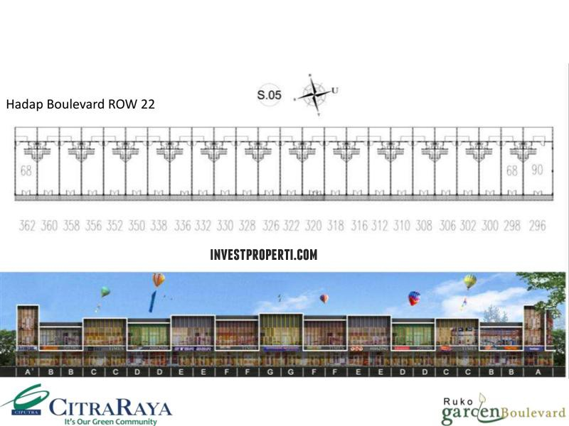 Floor Plan Ruko Garden Boulevard Citra Raya 1
