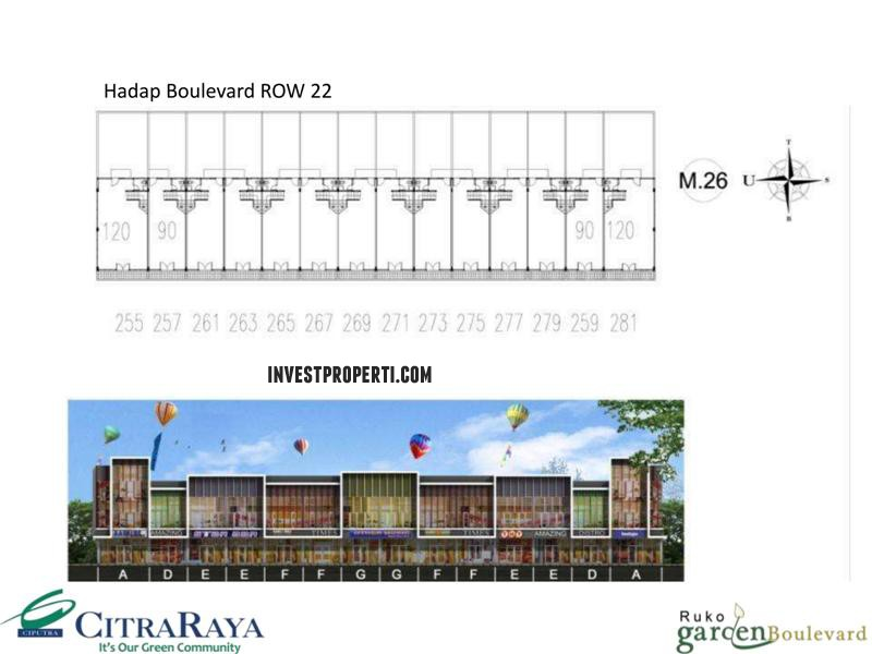 Floor Plan Ruko Garden Boulevard Citra Raya 5