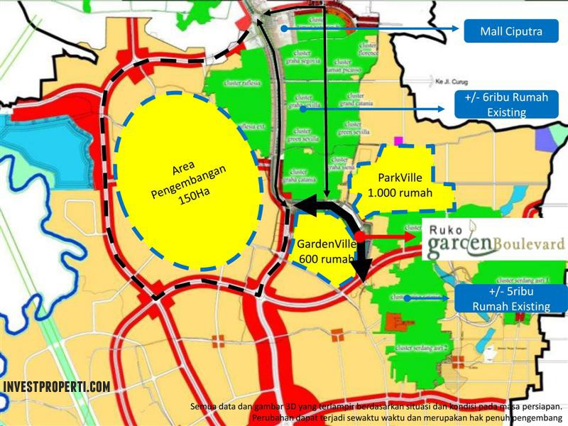 Master Plan Ruko Garden Boulevard Citra Raya Ciputat