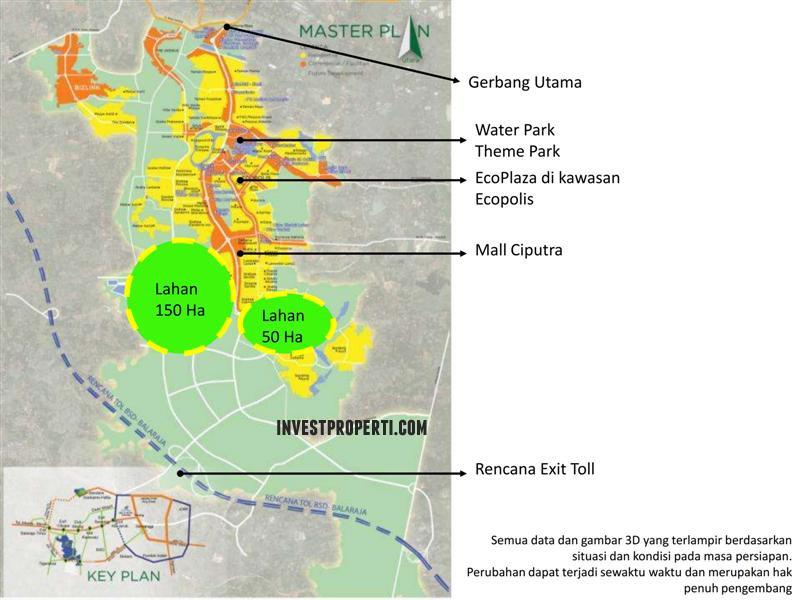 Master Plan Ruko Garden Boulevard Citra Raya