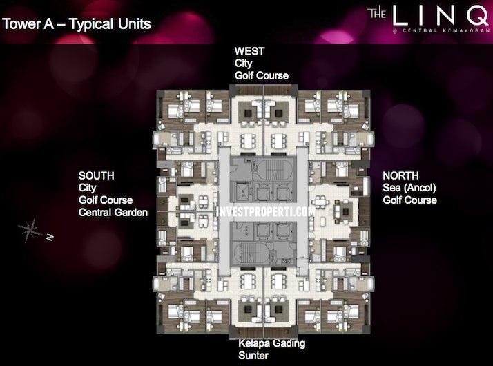 LINQ Kemayoran Jakarta Apartment Tower A Floor Plan