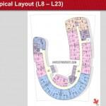 One Velvet Apartment Floor Plan L8-23