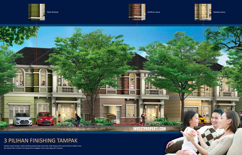 Finishing Rumah Menteng Village Serpong