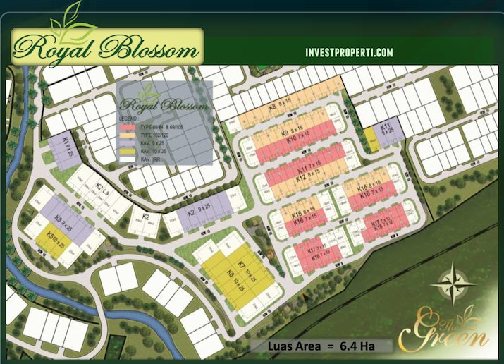 Site Plan Cluster Royal Blossom The Green BSD