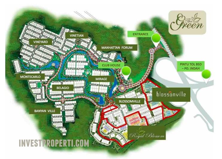 Siteplan The Green BSD City