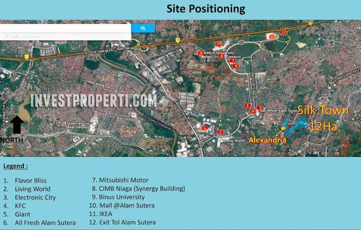 SilkTown Alam Sutera Map Location
