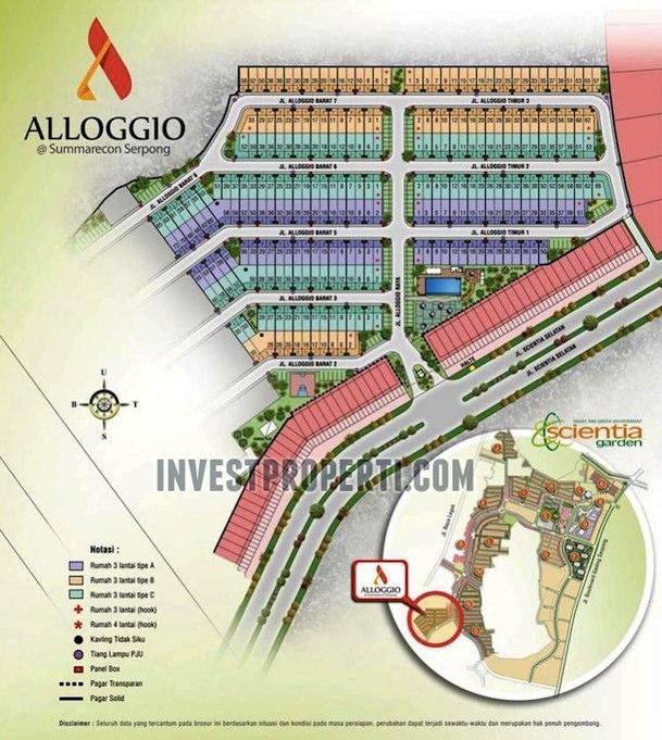 sitemap-cluster-alloggio-scientia-garden-summarecon-serpong