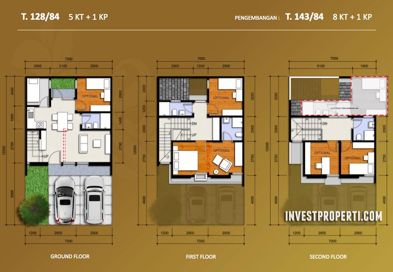 denah-lantai-rumah-regentown-gold-bsd-city