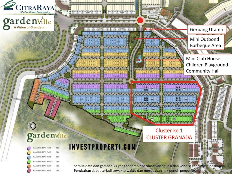 Site Plan Perumahan Cluster GardenVille