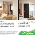 Spesifikasi Unit Emerald Bintaro