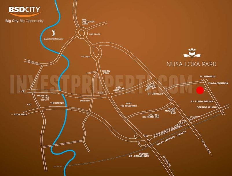 Nusa Loka Park BSD Map