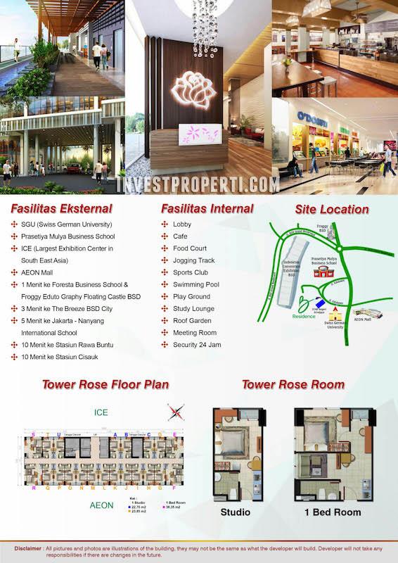 Brosur B-Residence BSD Apartment Tower Rose