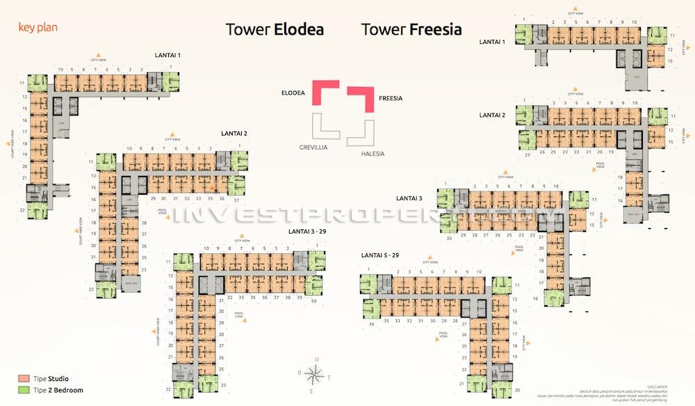 Floorplan Apartemen SpringLake View Bekasi
