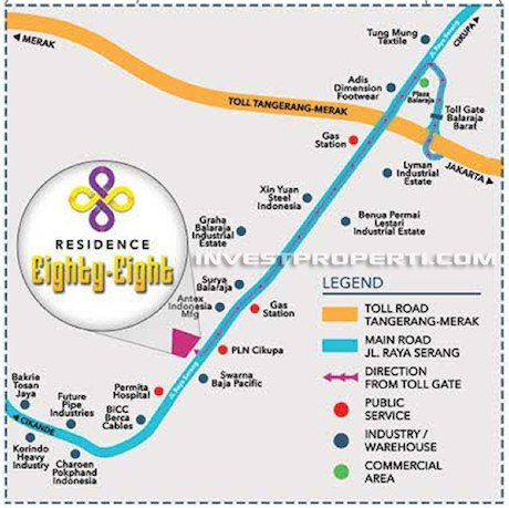 Residence 88 Balaraja Map Location
