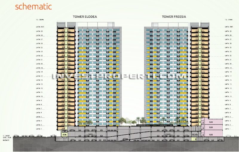 Schematic The SpringLake View Apartment