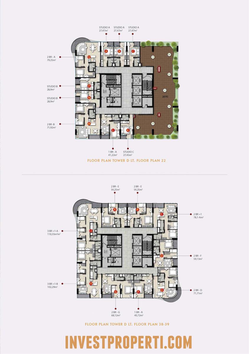 Floor Plan The Noble Alam Sutera