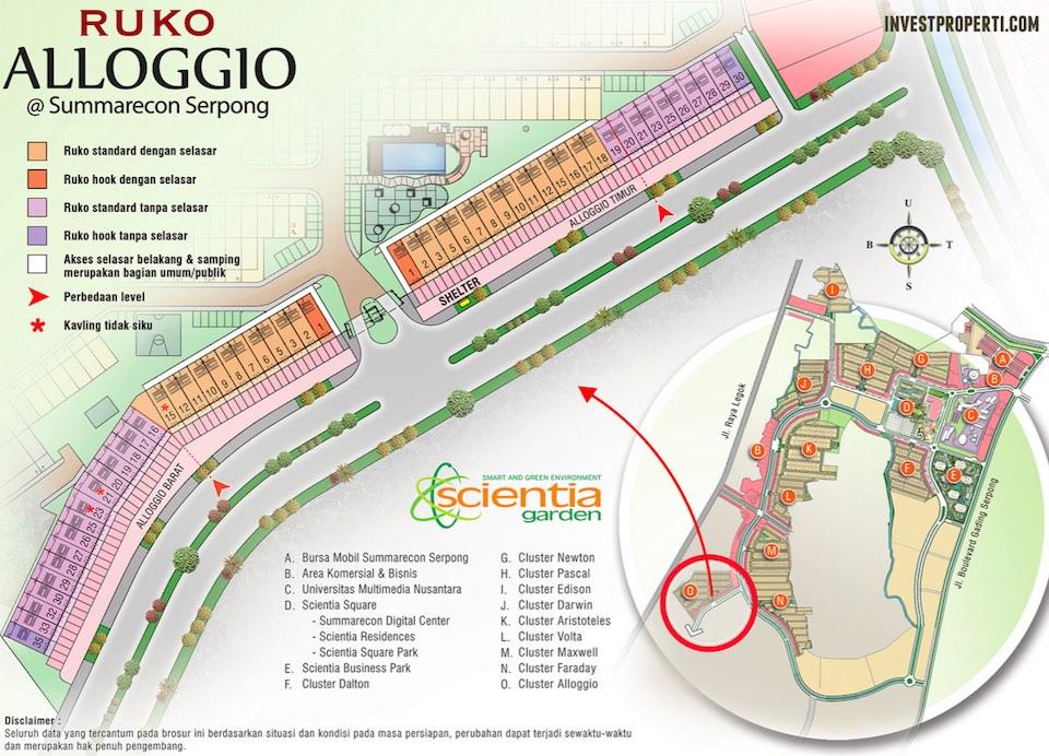 Site Plan Ruko Alloggio Summarecon Serpong