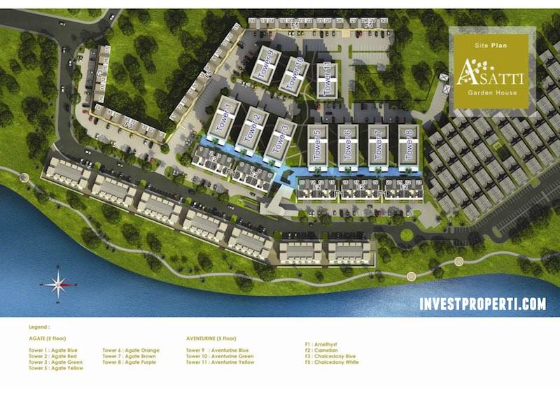 Site Plan Asatti Vanya Park BSD