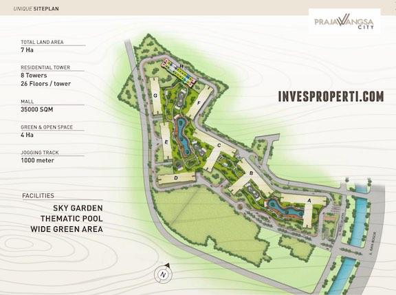 Site Plan Prajawangsa City