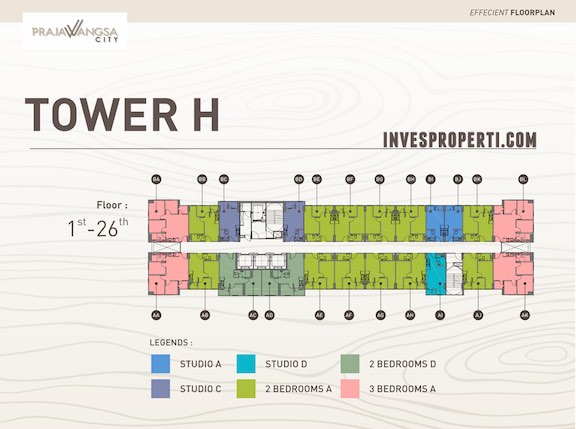 Floor Plan Tower H Apartemen Prajawangsa City